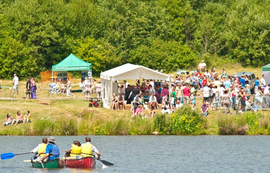 Visitors  enjoying Garn Lake