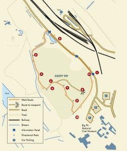 Map of Coity Trail Tip